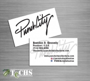 Business Cards | Copyright TeCHS 2016