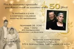 Anniversary Party Invitation | Copyright TeCHS 2016