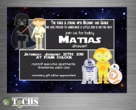 Star Wars Themed Baby Shower Invitation   Copyright TeCHS 2017