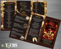 2018 Swing and Hustle New Years Event Tri-Fold Brochure | Copyright TeCHS 2018