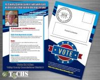 Political Campaign Mailer/Postcard | Copyright TeCHS 2018
