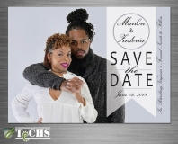Wedding Save The Date Card | Copyright TeCHS 2017