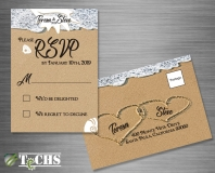 Wedding RSVP Postcard  | Copyright TeCHS 2018