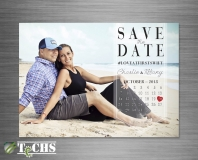 Wedding Save The Date Card | Copyright TeCHS 2018
