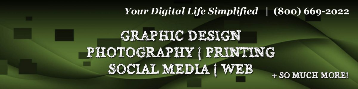 Graphic design portfolio banner