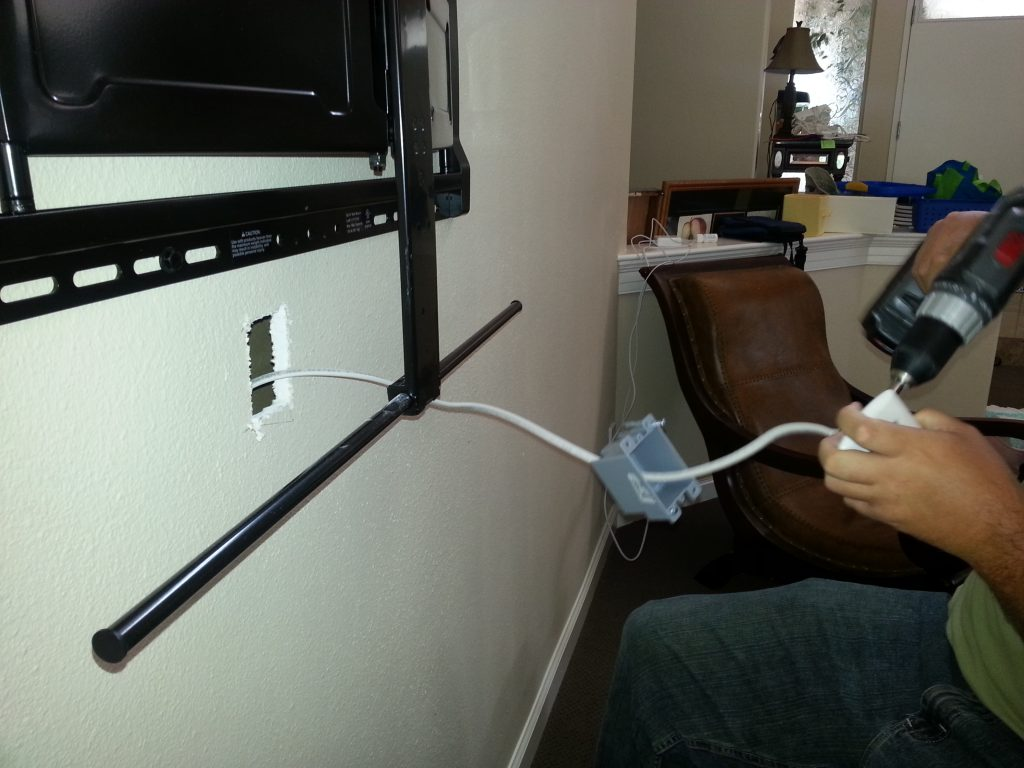 In-Wall Cable TV Mounting | TeCHS
