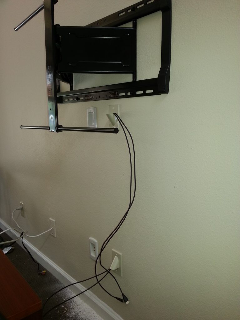 TV Wall Mount with in wall cable | TeCHS