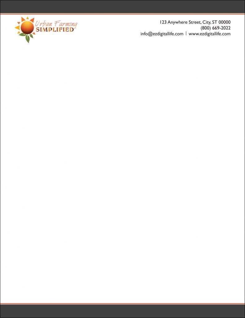Company Letterhead Design | TeCHS