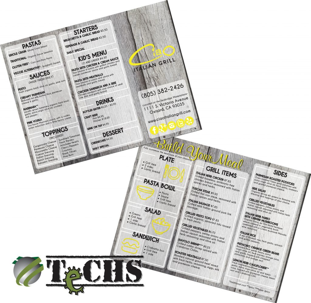 Menu | TeCHS | ezdigitallife.com