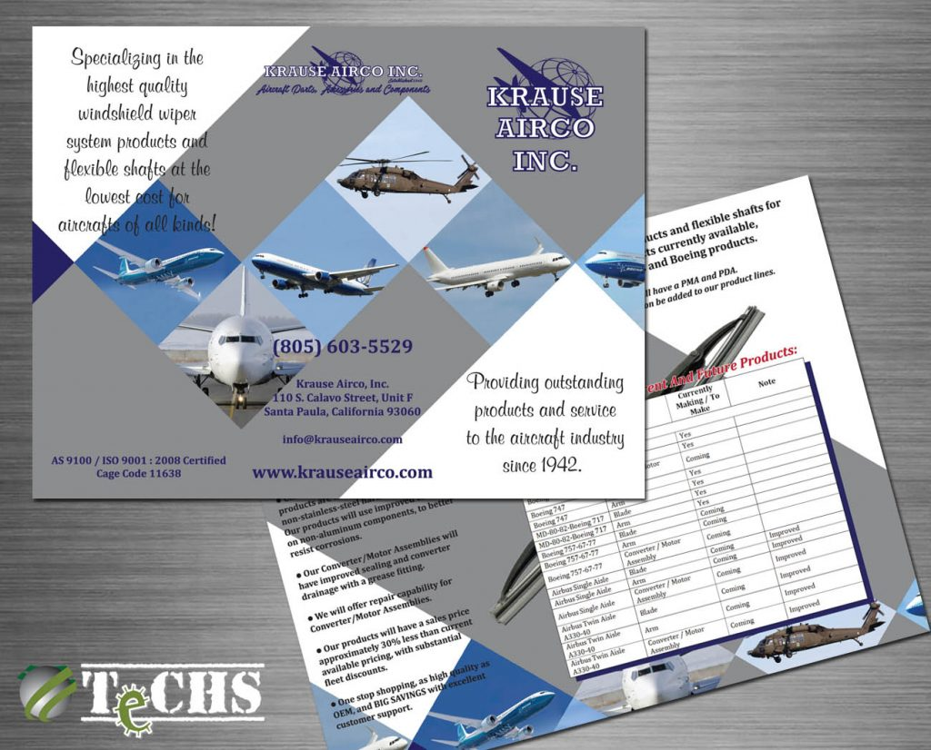 Trifold Brochure | TeCHS | ezdigitallife.com