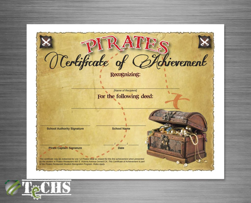 Award Certificate | Copyright TeCHS
