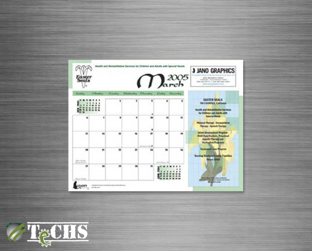 Desktop Calendar | Copyright TeCHS 2005