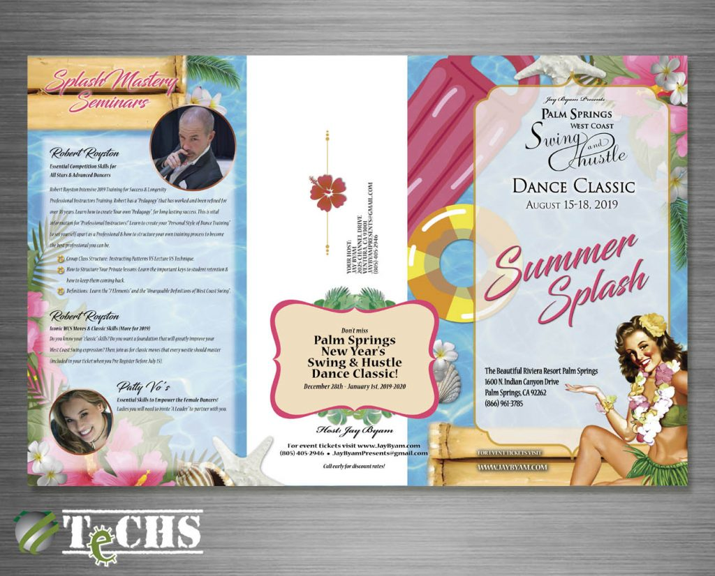 Trifold Brochure Outside | Copyright TeCHS 2019