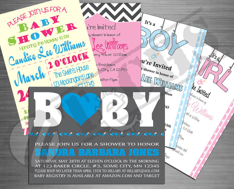 Baby Shower Invitations | TeCHS | ezdigitallife.com