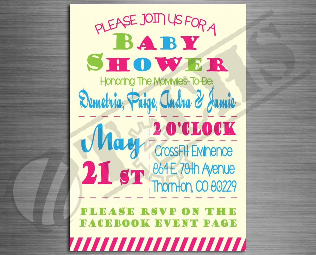 Baby Shower Invitation | TeCHS | ezdigitallife.com